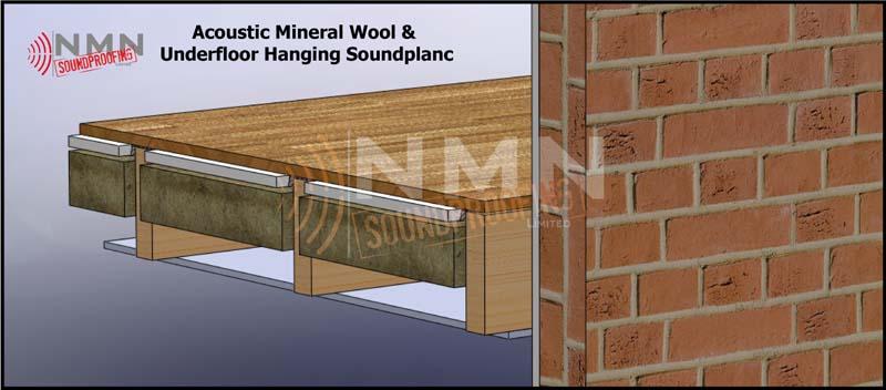 Under Floor Hanger System NMN Soundproofing - Soundproof floor boards